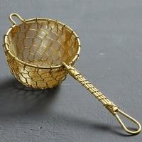 Pure Copper Tea Filter Hand Woven Tea Leaking Tea Filter Funnel Kung Fu Tea Accessories|Tea Strainers|Home & Garden -