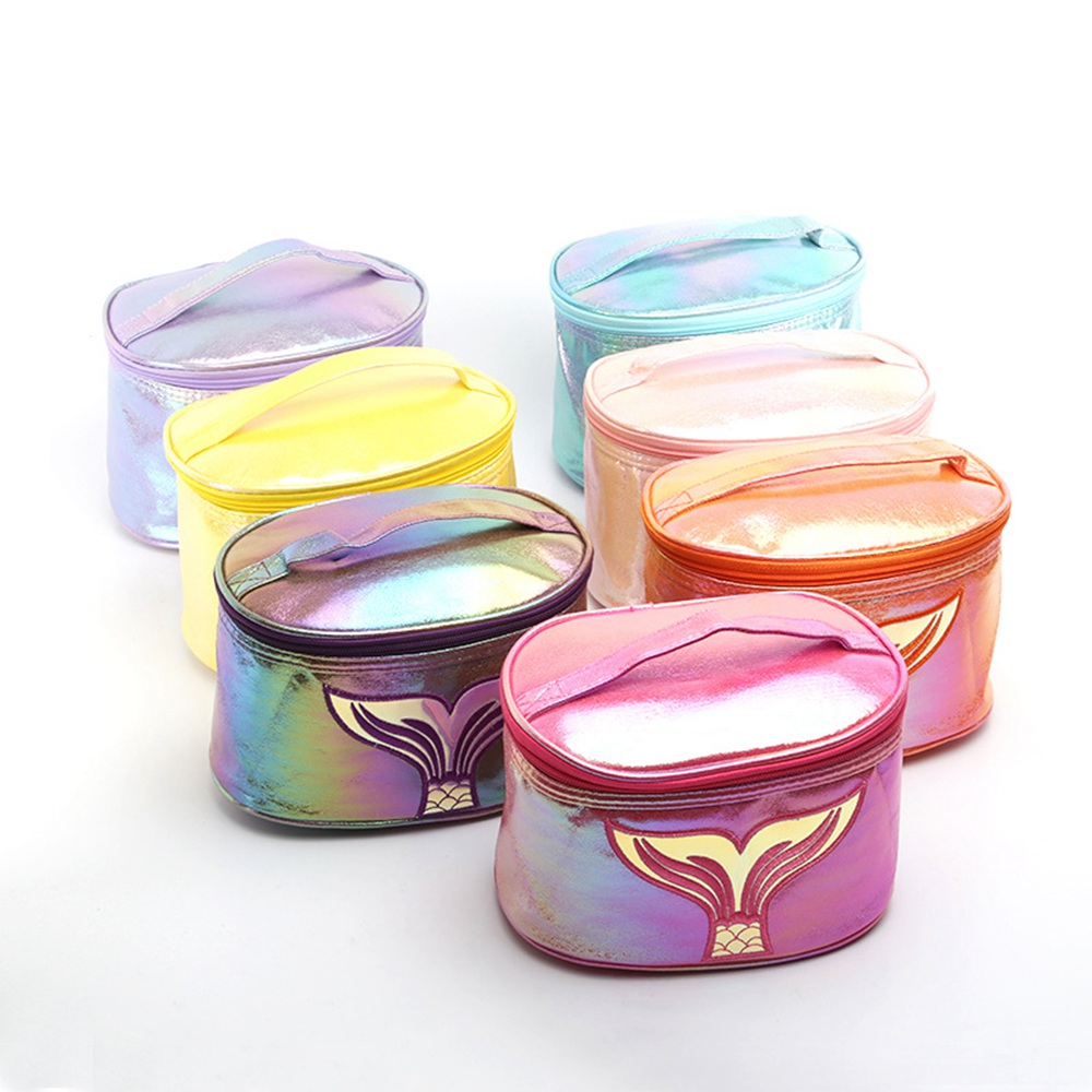 New Casual Fashion Mermaid Make Up Bag Women Travel Cosmetic Cases Large Capacity Wash Storage Bag