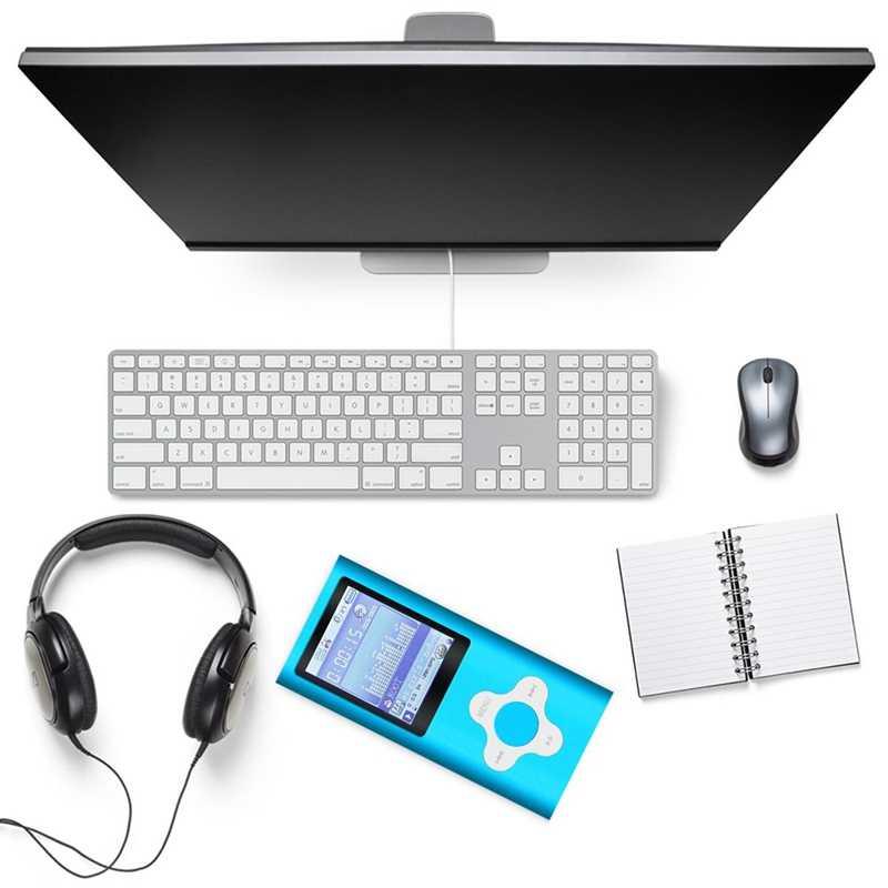 مشغل Mp3/Mp4 أنيق مع بطاقة مايكرو Sd 16Gb ، ودعم عارض الصور ، منفذ Usb صغير 1.8 Lcd ، مشغل موسيقى رقمي ، مشغل الوسائط ، Mp