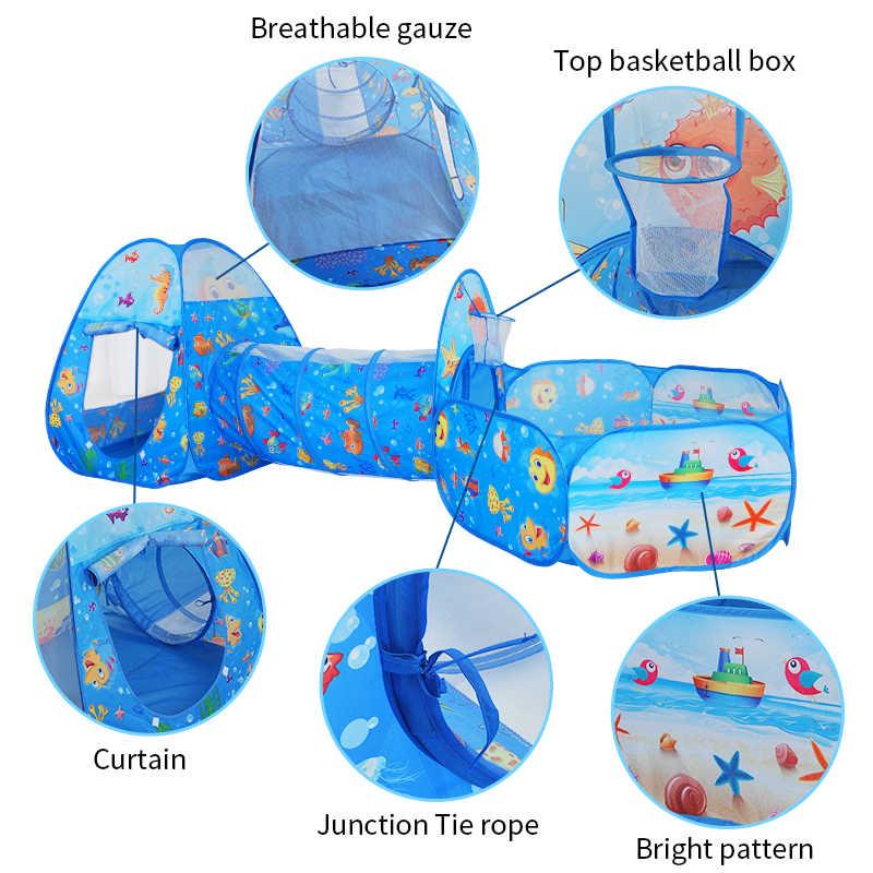 子供子供ポップアップ海洋ボールプールテントハウスクロール折りたたみテントハウス少年少女おもちゃのテントを再生トンネルプールボールフレーム