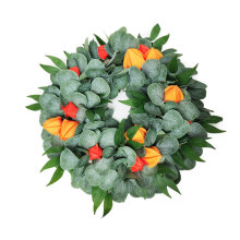 Christmas Decoration Artificial Green Leaves Wreath Front Door Flower For Wall Window Party Decor