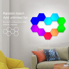Splice Hexagonal LED Wall Lamp USB DIY Night Light RGB Touch Dimmable Wall Light for Bar Kitchen Room Staircase Home Decoration