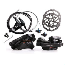 Общий набор дисковых тормозов для горного велосипеда, механический тормоз, тяговый дисковый тормоз, передний суппорт, задний суппорт 160 мм, набор кабелей