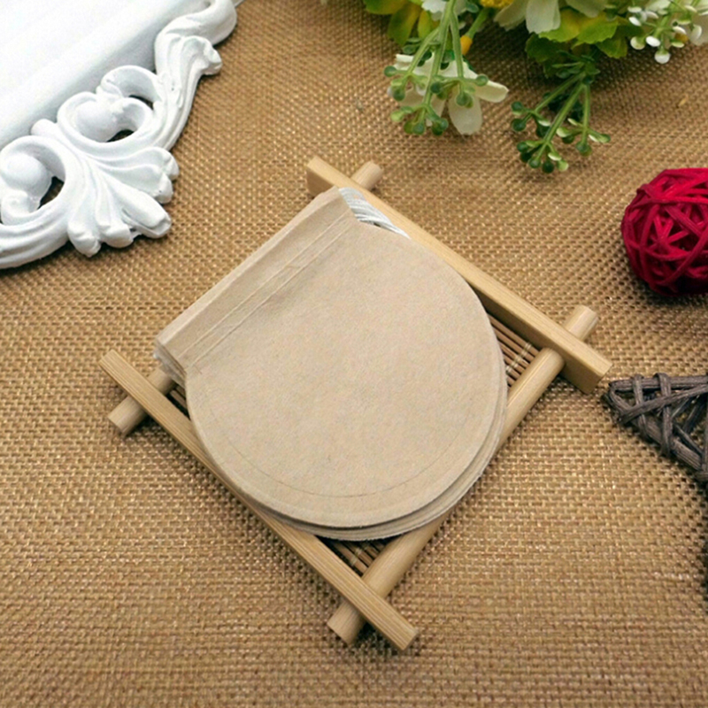 100Pcs/Lot 6cm/7cm Round Tea Bags Empty Filter Paper Teabags With String For Herb Tea