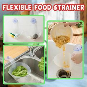 Image 5 - Novo auto standing rolha cozinha anti bloqueio dispositivo dobrável filtro simples pia reciclável filtro de drenagem dobrável