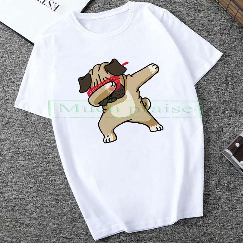 2020 Spring Summer T-shirt Man Woman Cute Dog  Short Sleeve O Neck T Shirt Harajuku Casual Loose Lovers Tops
