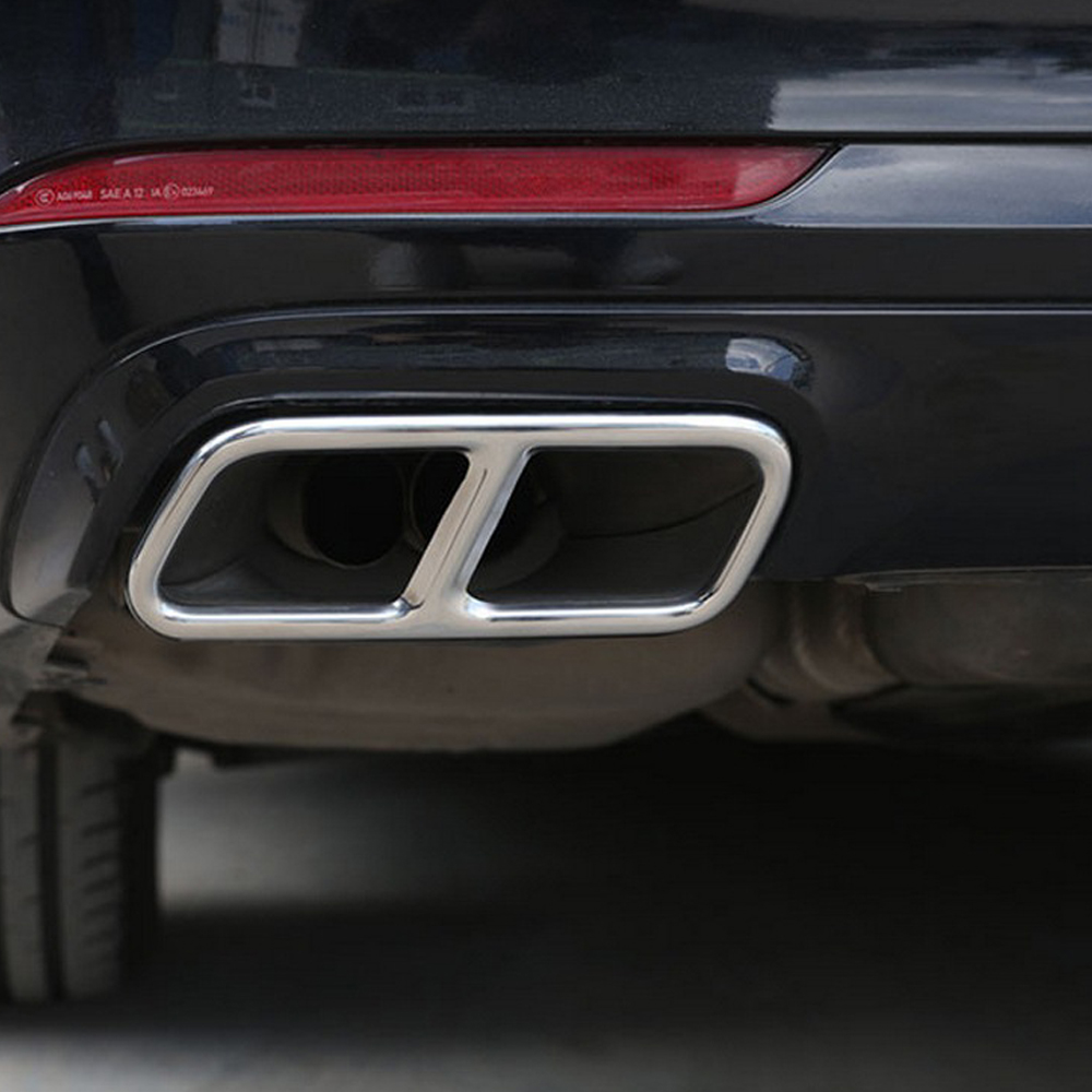 2pcs Car Accessories Exhaust Pipe Tail Cover Trim For <font><b>Mercedes</b></font> Benz <font><b>S</b></font> R <font><b>Class</b></font> <font><b>W222</b></font> Coupe W251 10-17 GL <font><b>Class</b></font> X166 13-15 AMG Part image