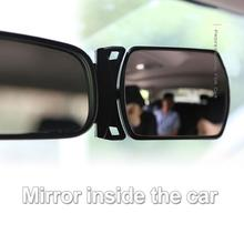 Car Mirror 360 Degree rotatable Wide Angle Side Rear Mirrors blind spot Snap way for parking Auxiliary rear view mirror Baby fold car silver bonnet rear mirror exterior hoods covers blind wide angle rear side mirror rear glass for all cars universal