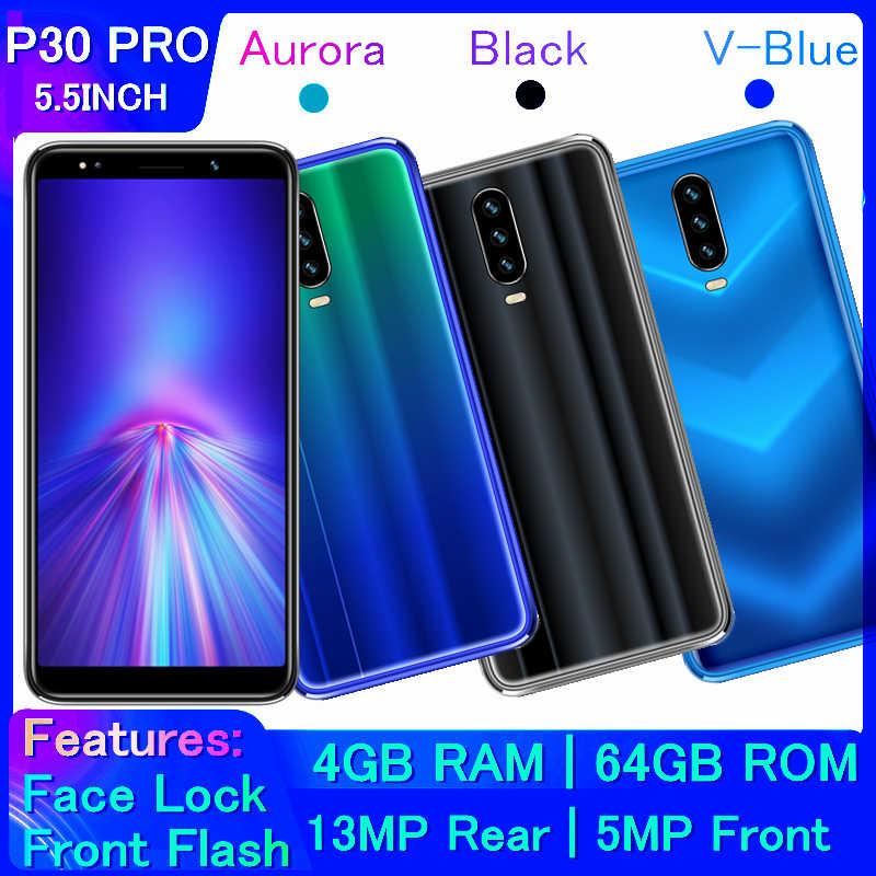 Smartphones d'origine P30 PRO 4G RAM 64G ROM Android reconnaissance des visages débloqués Celulares 13MP téléphones mobiles P35 MINI téléphones portables