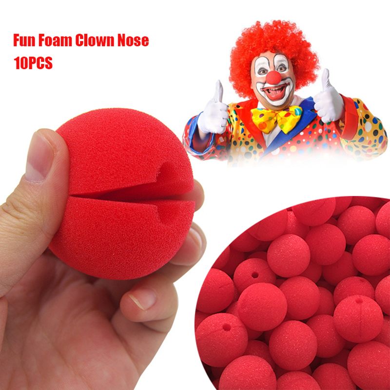 Halloween Foam Red Clown Nose Costume Play Games Cosplay Party Fancy Dress 20pcs
