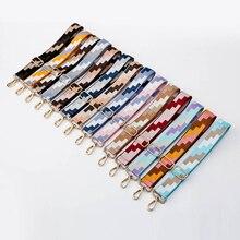 Geometry Print Adjustable Bag Straps Nylon Belt Bag Strap Hanger Handbag Accessories for Women Decorative Obag Handle Ornament