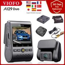 Двухканальный автомобильный видеорегистратор VIOFO, 5 ГГц, Wi-Fi, Bluetooth, Full HD, 1080P, задний видеорегистратор IMX291, датчик Starvis, A129