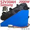 52V akumulator do rowerów elektrycznych 52V 1000W 2000W Ebike akumulator litowo-jonowy 52V 30AH bateria litowa wykorzystanie Samsung komórka z 5A ładowarka