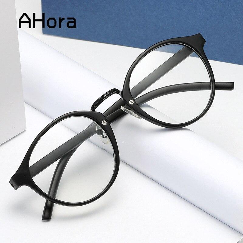 Ahora klasik siyah yuvarlak okuma gözlüğü kadın ve erkek Prebyopia gözlük büyüteç gözlük okuyucu diyoptri + 1.0to + 3.5