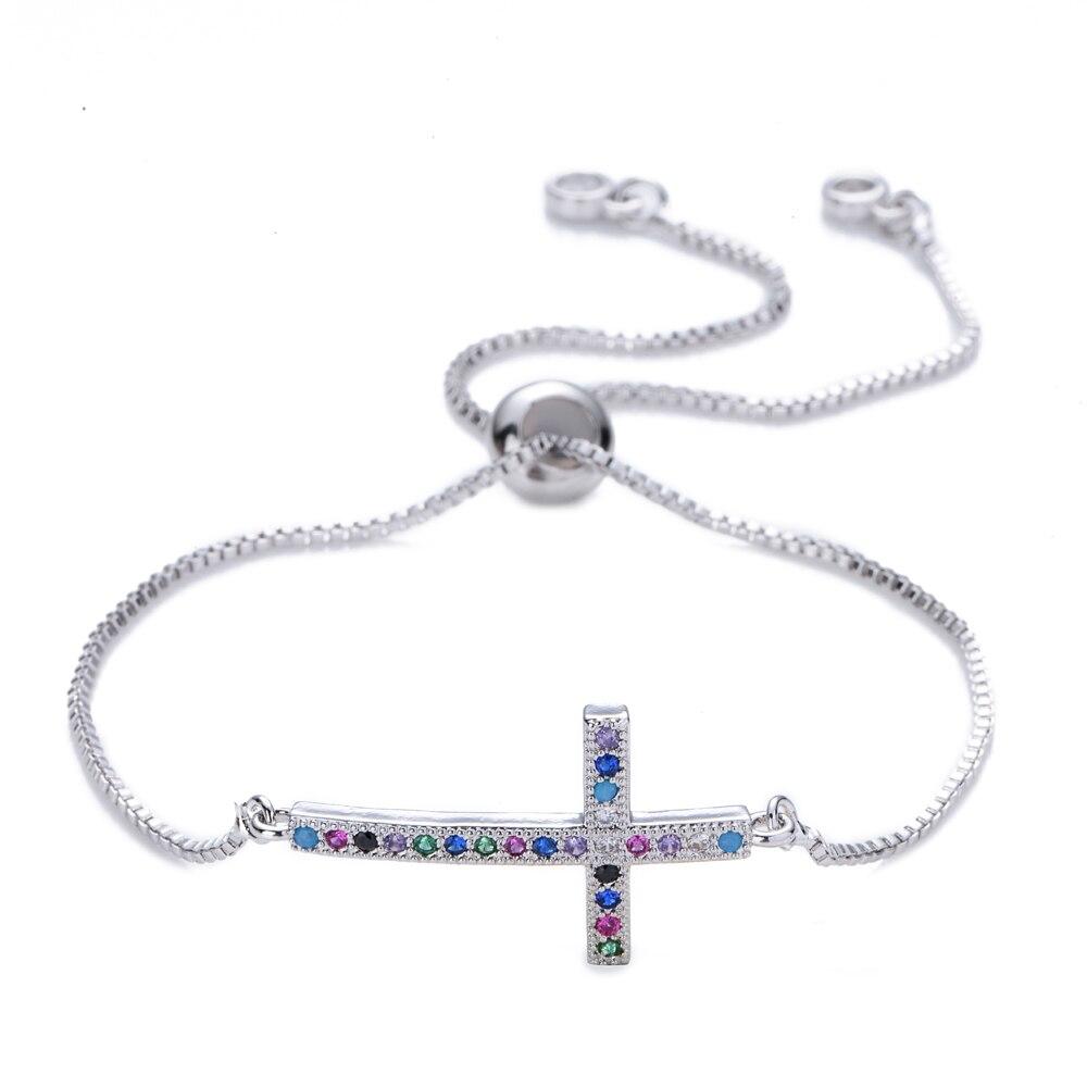 Colorido zircon cz pulseiras mãe pingente pulseira jóias coração pulseiras ajustável ouro diabo olho pulseira feminino presente