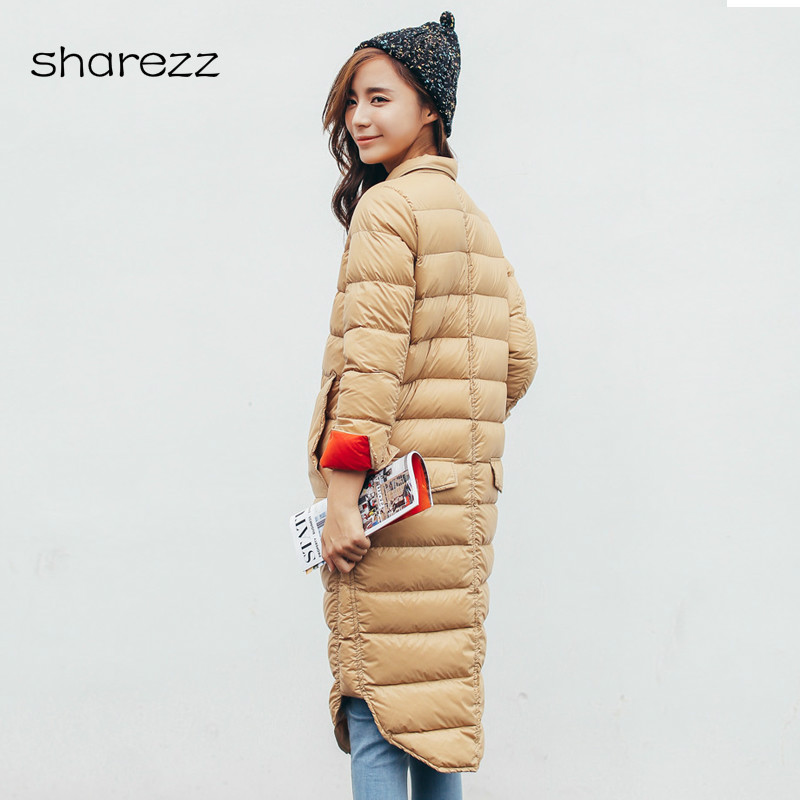 New Parkas Basic Women Winter Jackets Plus Size Long Female Winter   Coats   Ultra Light Duck   Down   Winter Jacket Womens Outwear