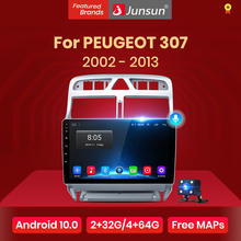 Junsun 4G + 64G Android 10 Voor Peugeot 307 Sw 307 2002 - 2013 Auto 2 Din Auto radio Stereo Speler Bluetooth Gps Geen 2din Dvd