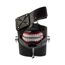 Máscara de fantasia cosplay de halloween ghoul ken látex, acessório ajustável de tamanho único, para festa e halloween