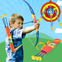 Kids Arrow Toy Outdoor Sports Set Archery with Target Bow Pl