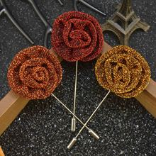 Trendy Flower Lapel multiple colors  Handmade Boutonniere Stick Brooch Pin Men  Brooch Lapel Pin Wedding Party small daisy shaped corsage multiple colors handmade boutonniere stick brooch pin men brooch lapel pin for wedding party
