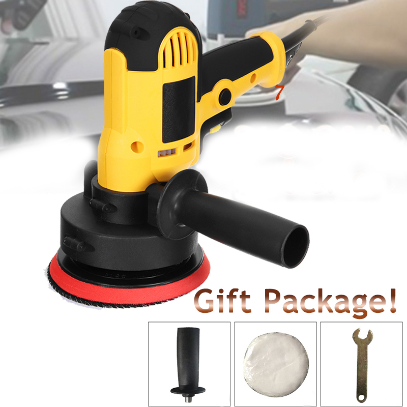 220V 750W Waxing Polishing Machine Angle Grinder For Polishing Metal Furniture Adjustable speed 125MM Pad With