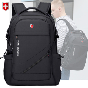 Anti-thief USB Charging Laptop Backpack Men Swiss Oxford bagpack Waterproof Travel Backpack Female Vintage School Bag 15/17inch(China)