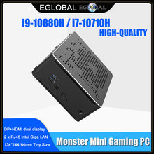 2 Lans Gaming Mini Pc Intel I9 9880H I7 10750H I9 10880H 2 * DDR4 64Gb 2 * M.2 Pcie + 1*2.5 '