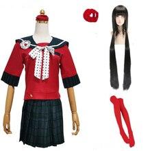 Danganronpa V3 Uccidere Harmony Harukawa Maki Scuola Uniforme Cosplay Costume personalizzato di qualsiasi dimensione