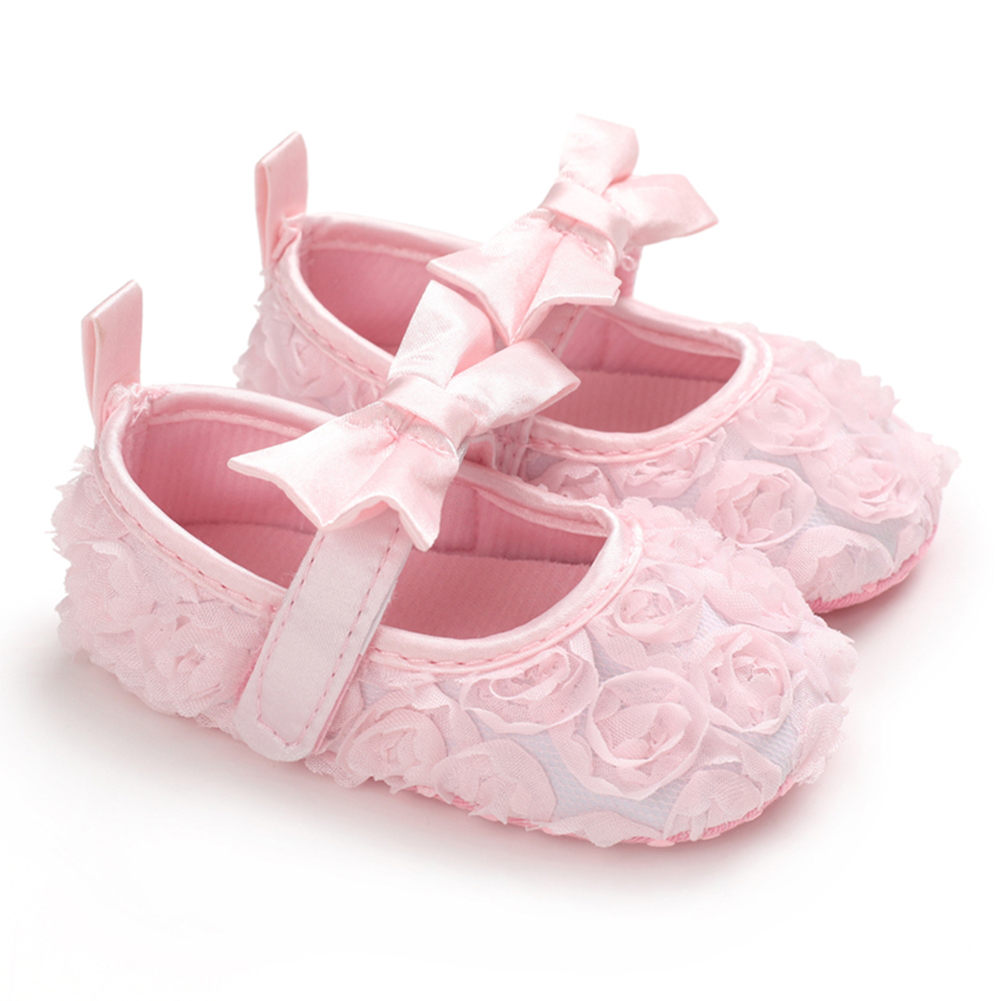 Shoes Newborn-Baby Toddler Baby-Girl Princess Floral for Party Lace Soft-Sole Crib Anti-Slip