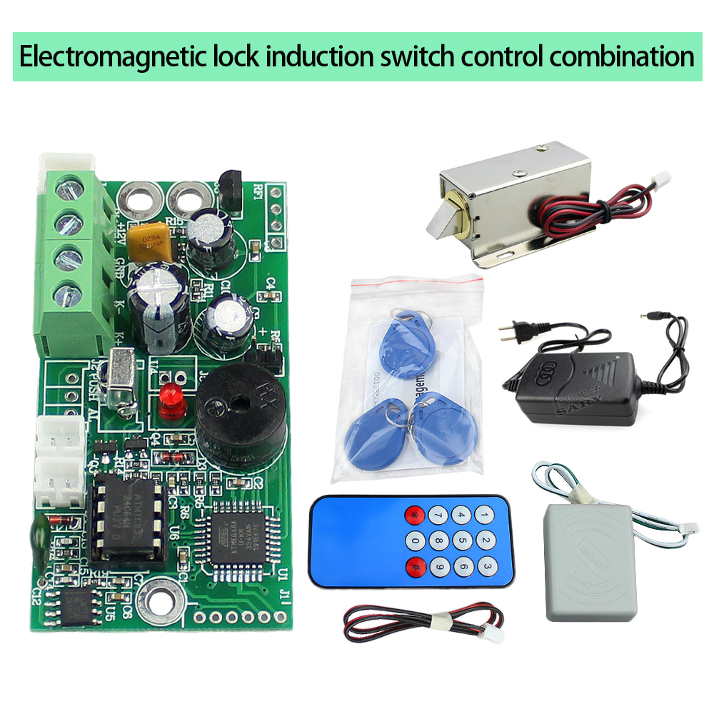 RFID Embedded Access Control Small Electromagnetic Lock Intercom Control Board Switch Control Combination EMID 125khz