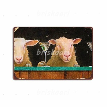 Will Bullas Three Sheeps To The Wind Metal Signs Club Party Customize Mural Poster Metal Posters image