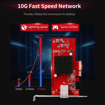 Comfast 10G Ethernet PCI Express 3.0 Wireless Adapter PCIE-X4 Network card 10Gbps Fast transmission Dongle  For Win 7/8/10