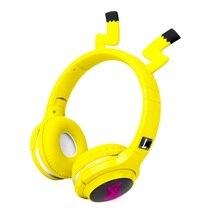 かわいい子供のbluetooth 5.0ヘッドセット7色ledヘッドフォンサポートsdカードオーディオケーブルのための少年少女のギフト子供