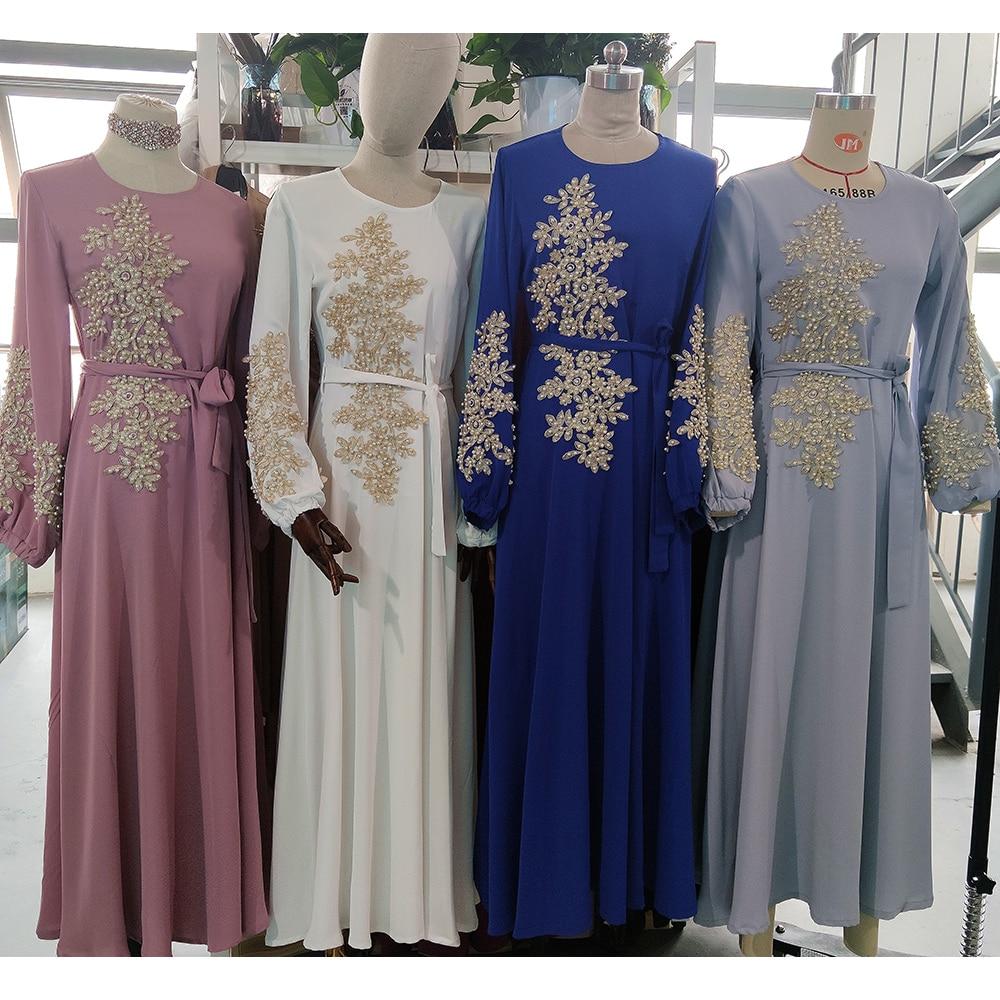 Kaftan Dubai Abaya Turkey Muslim Women Hijab Dress Islam Caftan Marocain Dresses Vestidos Eid Mubarak European
