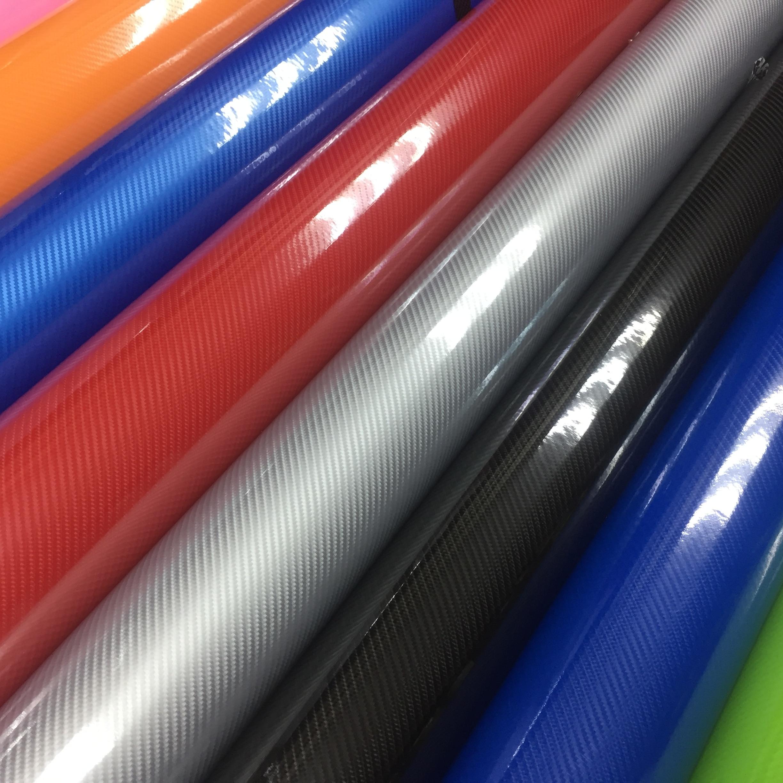 Voiture style haute brillance 5D noir rouge argent fibre de carbone vinyle film en fibre de carbone voiture feuille rouleau film outil voiture autocollant décalque