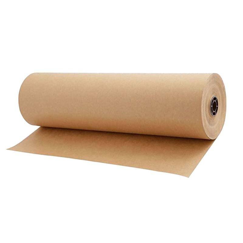30 metros marrom kraft papel de embrulho rolo para festa de aniversario do casamento presente embalagem