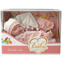 CNAS certification Infant Lovely Primary High Simulate 10-inch model sleeping doll baby Toy with soft cloth