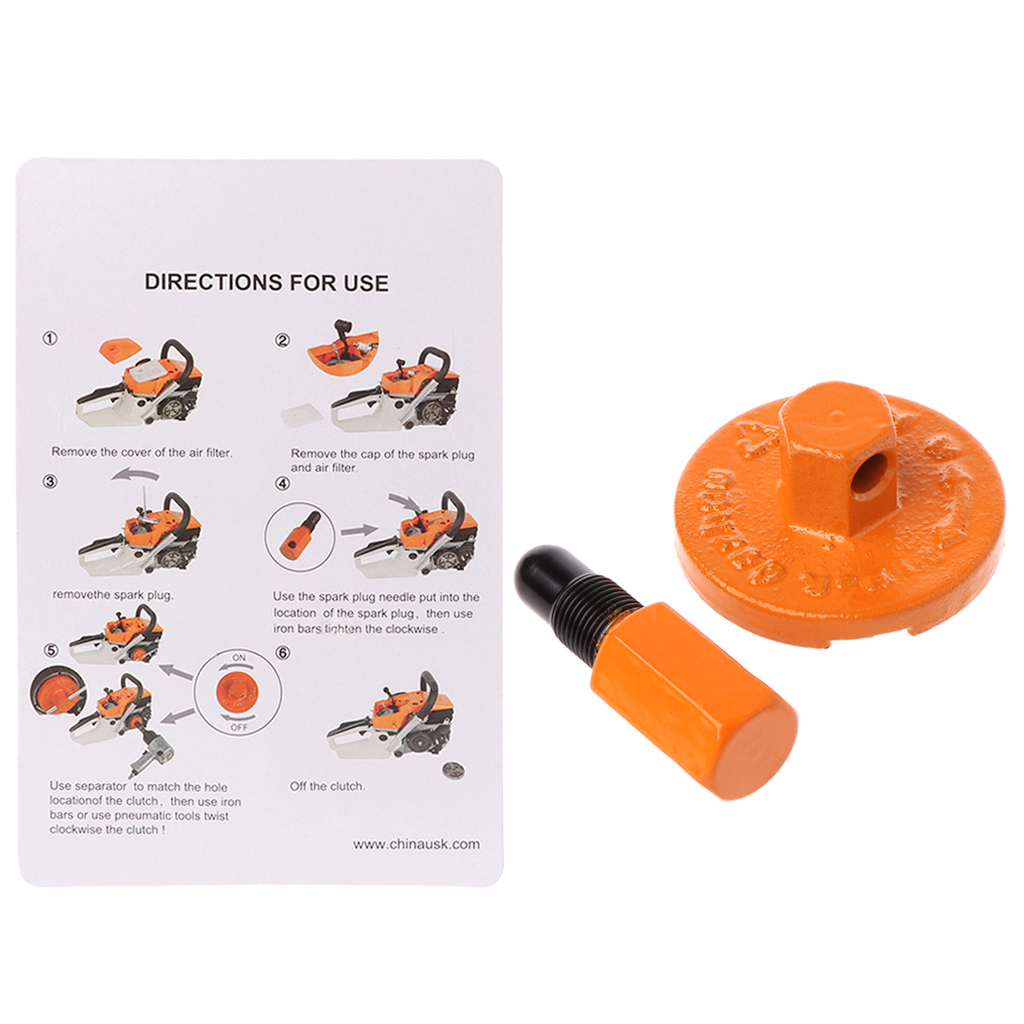 Universal Piston Stop Clutch Flywheel Disassembly Part Dismount Tool Chainsaw Clutch Removal Tools