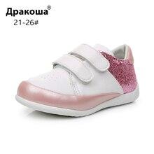 Apakowa Baby Meisjes Mode Glitter Lichtgewicht Klittenband Sneakers Peuter Kids Outdoor Low Top Ademende Sport Loopschoenen