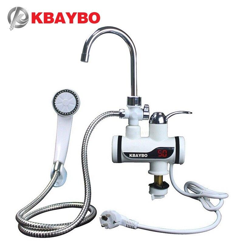 Calentador de agua de ducha eléctrico instantáneo de 3000 W, grifo caliente instantáneo, grifo eléctrico de cocina, calentador de agua instantáneo