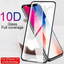 WZH 10D protective glass for iPhone X XS 6 6S 7 8 plus glass screen protector for iPhone 11 Pro MAX XR X screen protection Case cheap Front Film Apple iPhone iPhone 5 iPhone 6 iPhone 6 plus iPhone 6s plus IPHONE 7 IPHONE 7 PLUS iPhone SE IPHONE 8 PLUS IPHONE XS MAX