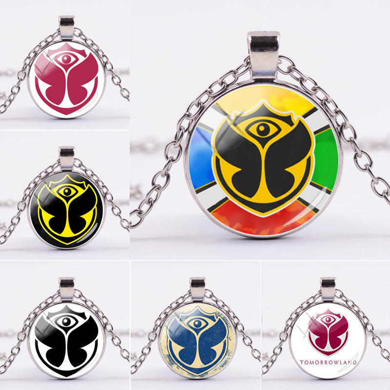 Belgium Tomorrowland Music Festival Cosplay Costume Periphery Necklace Time Gem Glass Pendant Gift Jewelry Accessories