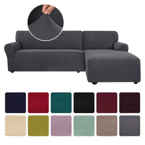 Sofa-Cover Chaise Jacquard-Corner Stretch Living-Room L-Shape Sectional for Couch Longue