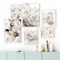Настенная живопись на холсте Цветы пионы розы белые цветы сад скандинавские плакаты и принты настенные картинки для декора гостиной