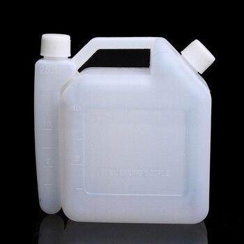 Botella Mezcladora de doble carrera depósito de combustible de gasolina aceite de verter herramientas de motor eléctrico motosierra recortadora contenedor gasolina