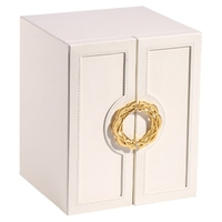 Leather Jewelry Box Storage Box Ring Display Lady Case Portable Jewelry Organizer for Necklaces