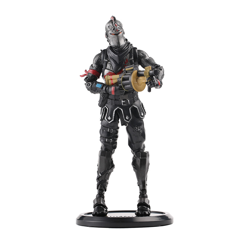 20cm New Hot Game Fortress Night Battle Royale Black Knight Action Figure Toys Game Character PVC Figure Model Toy