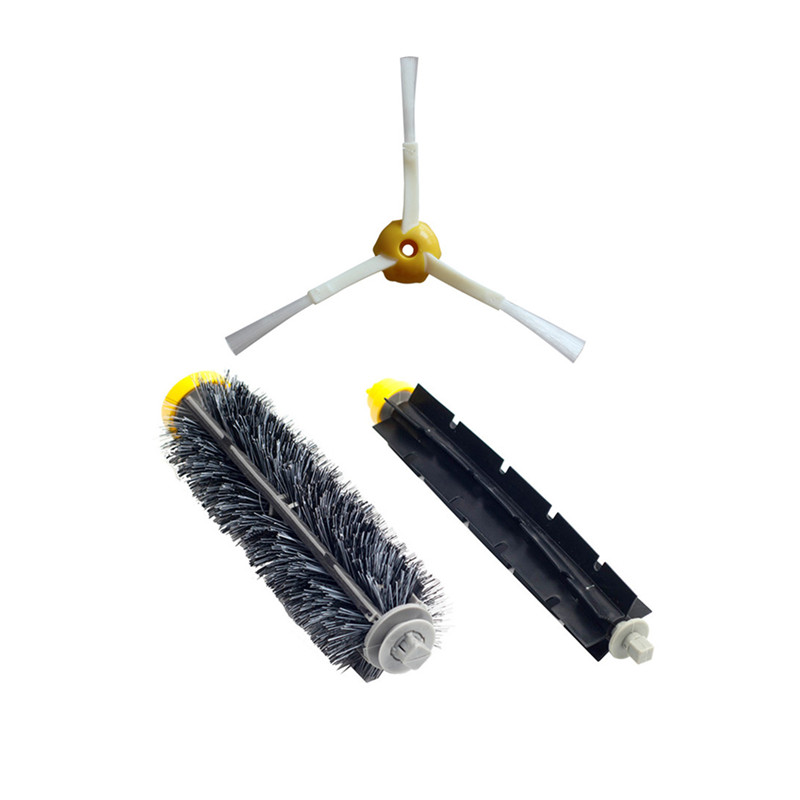 Black Hair Bristle Brush for iRobot Roomba 600 700 Series 760 770 780 790 620 610 650 pet Robot Vacuum Cleaner Parts image