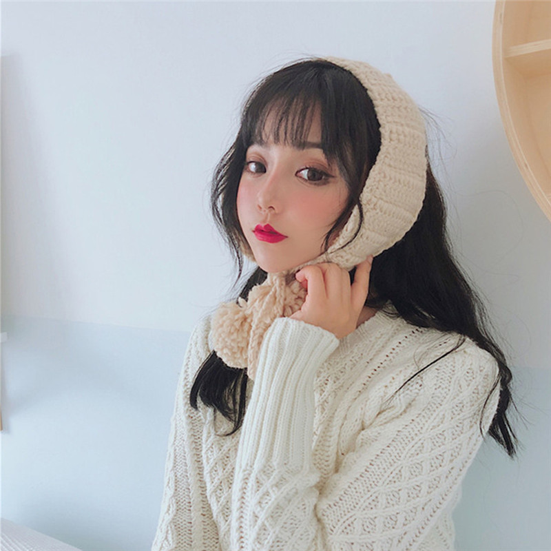 2 In 1 Scarf Earflap Winter Autumn Warm Plush Ear Muffs Cute INS Fashion Earmuffs Thermoscan Winter Accessories