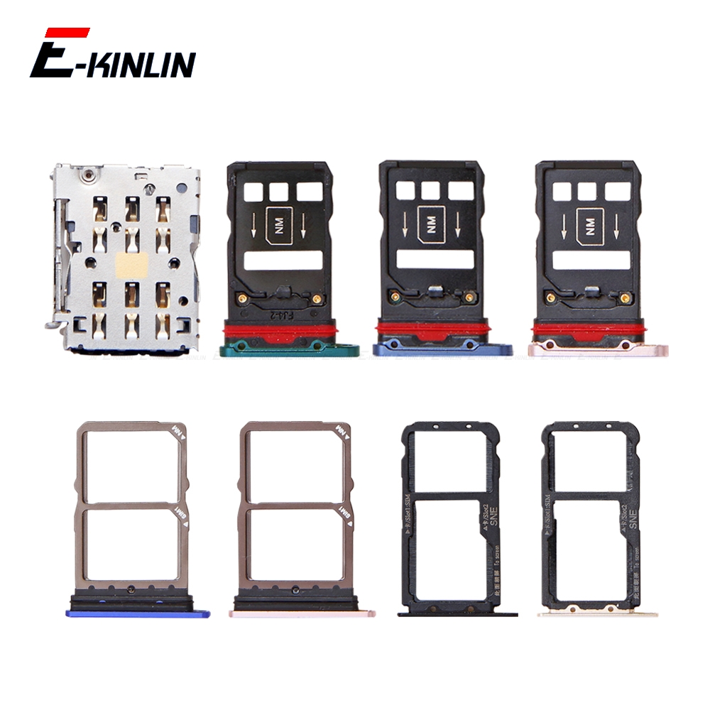 Micro SD / Sim Card Tray Socket Adapter For HuaWei Mate 20 Pro X 20X Lite Connector Holder Slot Reader Container